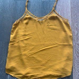 Dex panel blouse size S yellow